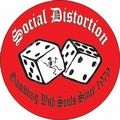 SOCIAL DISTORTION DICE BUTTON