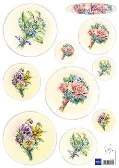 3D Sheets Tiny's bouquet spring it0574