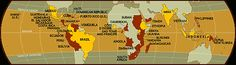 Where is coffee grown? From National Geographic.