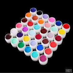36 Colors/Set  High Quality Soak off Nail Polish UV nail  lamp UV Colorful Nail Gule Solid Pure Color Varnish Nail Art #Affiliate