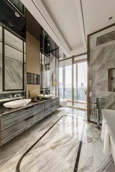 Marble floors are always a winner if you're looking at creating the ultimate luxury bathroom.