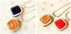 $8 Best Friends Peanut Butter and Jelly Necklaces - 1 Pair at VeryJane.com