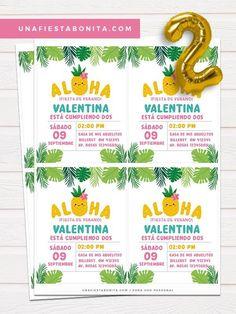 Tropical themed aloha invitation for birthday, pineapple summer invitation card Summer Deco, Tropical, Party Decoration, Baby Shower, Summer Parties, Invitation Cards, Birthday Invitations, Handmade Gifts, Etsy Handmade