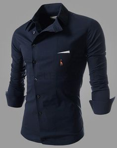 Color: Navy Blue. A perfect fit for someone who has a slim build. unique-outfit.com