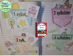 Interactive Phonics Notebook for First Grade~ tons of skills including beginning sounds, short vowels, digraphs, vowel pairs, 2 syllable words and more $