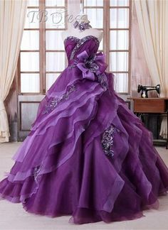 Wonderful Ball Gown Sweetheart Flowers Appliques Beading Quinceanera Dress