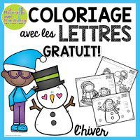 Both winter break and the year 2016 are almost over! I want to thank you SO MUCH for your support ov Christmas Worksheets, Vocabulary Worksheets, Alphabet Worksheets, Worksheets For Kids, French Teaching Resources, Teaching Kids, Teaching French Immersion, French Colors, Core French