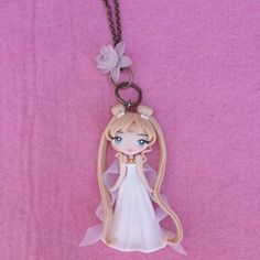 Sailor Moon Necklace in polymer clay fimo by Artmary2 on Etsy