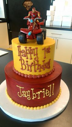 Iron Man Inspired birthday cake by Retro Bakery in Las Vegas, via Flickr