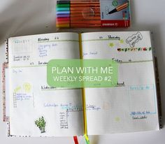 This weeks video is another plan with me (thanks for the support!), in which I show you another one of my favourite weekly spreads.