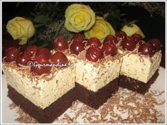 Prajitura cu rom si visine Romanian Desserts, Romanian Food, Sweets Recipes, Cake Recipes, Food Cakes, Healthy Tips, Caramel, Sweet Treats, Cheesecake