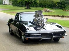 1965 Corvette... Is this the largest blower you've seen a 65 Corvette?