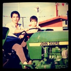 Ever since this moment I've wanted a tractor. My brother and I were playing pretend that we'd get to take this one home from the...