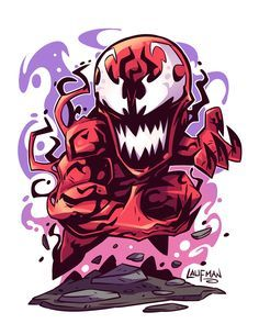 marvel chibi Chibi Carnage by DerekLaufman on DeviantArt Chibi Marvel, Marvel Dc Comics, Marvel Heroes, Marvel Avengers, Character Drawing, Comic Character, Logo Super Heros, Marvel Cartoons, Marvel Drawings