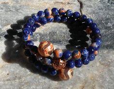 Sodalite Mala Bracelet prayer beads rosary  54 by LotusJewels