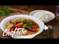 Como Cocinar Curry Rojo Tailandes - Receta en la descripción - YouTube