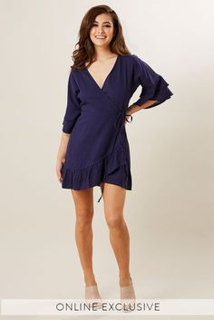 f5274a3c9d2 The Hit The Mark Dress is actually everything! It has a round ...