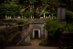 Highgate Cemetery by Joe-Roberts crypt entrance landscape location environment architecture   Create your own roleplaying game material w/ RPG Bard: www.rpgbard.com   Writing inspiration for Dungeons and Dragons DND D&D Pathfinder PFRPG Warhammer 40k Star Wars Shadowrun Call of Cthulhu Lord of the Rings LoTR + d20 fantasy science fiction scifi horror design   Not Trusty Sword art: click artwork for source