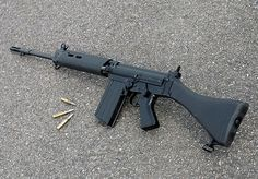 FN FAL 7.62mm NATO battle rifle. Known to the Brits as the L1A1. It is arguably one of the best battle rifles on the planet.