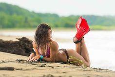 Swimsuit, Vestido de baño, modelo, playa, Chapaletas, Fins