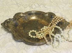 vintage silver tray victorian by MyVintageAngels on Etsy, $18.00