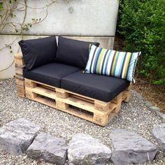 How To Make Rustic Furniture Home Furniture Logo Wooden Pallet Furniture, Diy Outdoor Furniture, Rustic Furniture, Outdoor Sofa, Home Furniture, Furniture Sets, Outdoor Decor, Pallet Wood, Outdoor Living