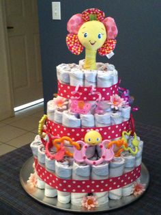My very first diaper cake.