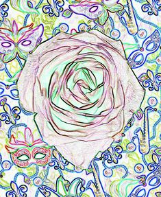"""Purple roses were given to all attendees on the way out of a recent funeral for a member of one of Mobile's many Mardi Gras associations. Roses were her favorite flower so her family decided to give purple roses to all attending to honor her memory and her love of Mardi Gras.  This version is a color invert of my """"Purple Rose of Mardi Gras Glowing Edges"""" photo. Find this image and more for sale at marian-bell.pixels.com marian-bell.fineartamerica.com"""