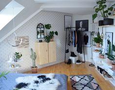 I'm finally satisfied with my jungle bedroom . Jeg er til sidst tilfreds med mit Jungle Bedroom, Room Goals, Decor Room, Small Living, My Room, My Dream Home, Room Inspiration, House Design, Interior Design