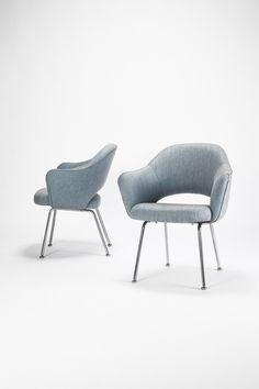 Executive Armchair - 2 early flexible chairs ,1957 | armchair . Sessel . fauteuil | Design: Eero Saarinen |