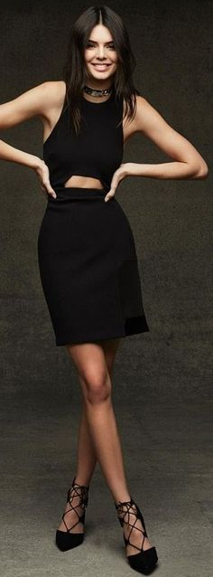 Who What Wear - Kendall Jenner - Cutout Little Black Dress Celebrity Style Inspo
