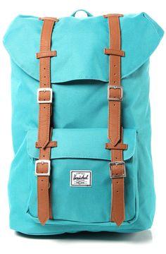 HERSCHELL SUPPLY Backpack Little America Mid Volume in Teal - Karmaloop.com