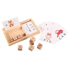 Joqutoys Wooden Educational Toys Learning Matching Letter Games and Develops Alphabet Words Spelling Skills Letter Block for Girls Boys Gift(30pcs Cards) *** Visit the image link more details. (This is an affiliate link)