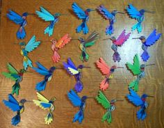 Flock of hummingbirds 2 - Quilled Creations Quilling Gallery