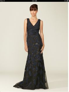 Carolina Herrera Fully Embellished Silk Gown