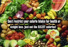 It really is true! I have lost over 40lbs eating unlimited calories just making sure they come from the RIGHT foods.