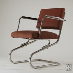 Cantilever tubular steel chair by Heinz and Bodo Rasch in the style of the Bauhaus-Modernism - Image 1