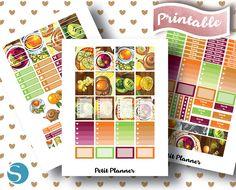 Erin Condren Stickers // Printable Planner // Cut Files // Silhouette Studio // Cricut PNG // Tea // Tea Pot // Meditation // Health and Wellness