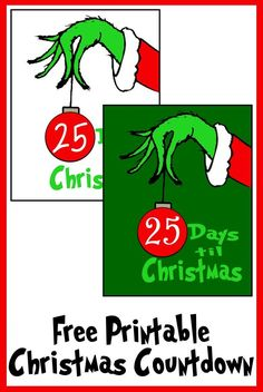 Free Grinch Hand Christmas Countdown Printable Printables 4 Mom Free Grinch Hand Christmas Countdown Printable Printables 4 Mom Patsy Tippett ptippett Christmas Santa s coming Can you believe Christmas nbsp hellip Grinch Christmas Decorations, Grinch Christmas Party, Christmas Signs, Christmas Countdown, Grinch Party, Celebrating Christmas, Christmas Parties, Grinch Hands, Free Christmas Printables