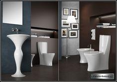 Wc stativ Formosa cu rezervor si capac Contemporary Bathrooms, Olympia, Toilet, Relax, Bathtub, Vase, Mirror, Furniture, Classic