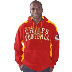 0fbad223f Kansas City Chiefs G-III Sports by Carl Banks Snap Shot Polar Fleece Full-Zip  Hoodie - Red