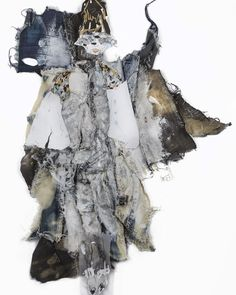 This denim cotton and paint collage is the work of the extremely talented @_charlesjeffrey it's a study  of @maisonmargiela's S/S 16 collection created exclusively for our 'A Beautiful Darkness' exhibition and event. Go online at Shop.showstudio.com to purchase it or stop by SHOWstudio's gallery to see this beautiful piece and twenty-one other wonderful illustrations on display. #TheWidowSeries by nick_knight