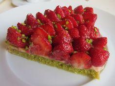 pistachio custard   Sublime strawberry, pistachio and custard tart