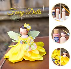 Adorable Wooden Peg Fairy Dolls DIY Tutorial by the talented @Amy Lyons Liu Bissett  | via blog.HWTM.com