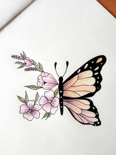 Drawings 35 Ideas For Tattoo Butterfly Sketch Pencil Drawings Drawing Butterfly . - Drawings 35 Ideas For Tattoo Butterfly Sketch Pencil Drawings Drawing Butterfly butterfly Drawing D - Easy Pencil Drawings, Easy Doodles Drawings, Pencil Sketch Drawing, Cool Art Drawings, Art Drawings Sketches, Tattoo Drawings, Sketch Tattoo, Drawing Ideas, Drawing Drawing