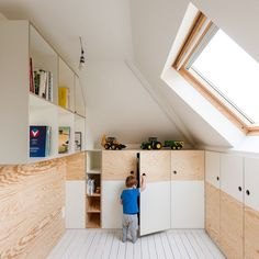 All time best attic storage,Attic bathroom sloped ceiling designs and Attic renovation company. Attic Bedroom Small, Attic Playroom, Attic Bathroom, Attic Rooms, Attic Spaces, Attic Office, Bathroom Storage, Kitchen Storage, Bathroom Ideas