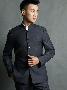 chinese collar suits with embellishments - Google Search