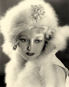 Thelma Todd, 1930s.in  the winter time a fur hat,russian style is very hollywood glam
