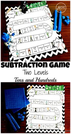 Do your students need a little more work on subtraction with regrouping. This subtraction with regrouping game is fun and perfect for extra practice with subtraction. Subtraction Activities, Math Activities, Subtraction Regrouping, Subtracting With Regrouping, Math Multiplication, Fun Math, Math Games, Kids Math, 2nd Grade Math