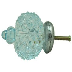Crystal Glass Acrylic Crown Drawer knob Pull 6 colors